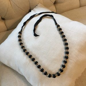 J.Crew black ribbon necklace